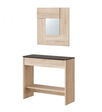 Mueble recibidor consola con espejo Andy