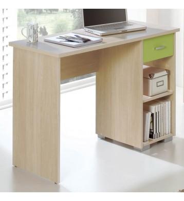 Mesa escritorio color haya y pistacho
