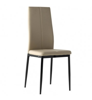 Pack 4 sillas comedor polipiel Brea color capuchino