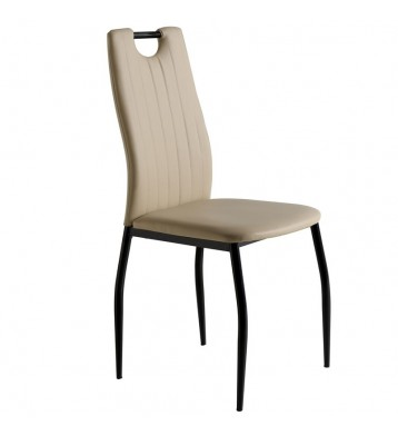 Pack 4 sillas salón Berriz asa negro capuchino