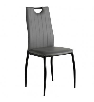 Pack 4 sillas comedor Berriz gris negro