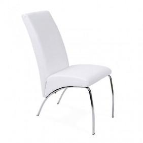 Silla comedor salón Arco color blanco 96x43x70
