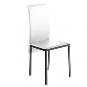 Pack 2 sillas salón modernas blancas Saona