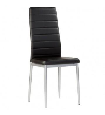 Pack 2 sillas polipiel negras Irina
