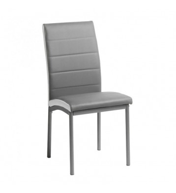 Pack 2 sillas polipiel gris Meli comedor