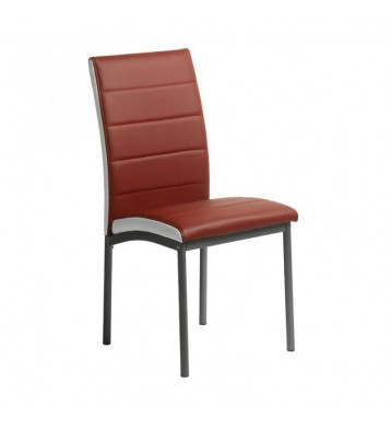 Pack 2 sillas salón rojas polipiel Meli