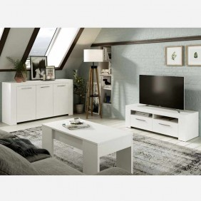 Muebles salon blanco Zahara