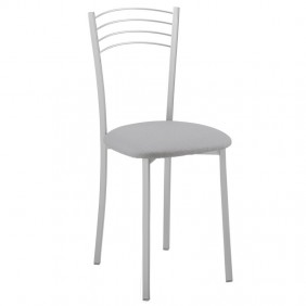 Pack 2 sillas cocina grises modernas