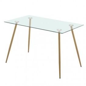 Mesa comedor cristal Asper estilo nórdico 75x120x70 cm