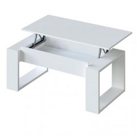 Mesa de centro elevable blanca Square 45-54x105x55cm