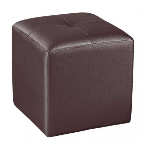 Pouf Chocolate Polipiel Mueble Auxiliar Asiento 35x35