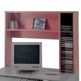 Estantería 80x64 cm para acoplar a escritorio cerezo