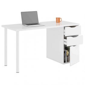Mesa escritorio con cajones Athena color blanco 138 cm