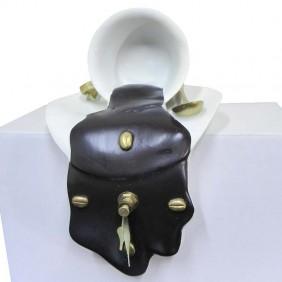 Reloj taza chocolate para estantería
