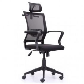 Silla ergonómica para oficina negra