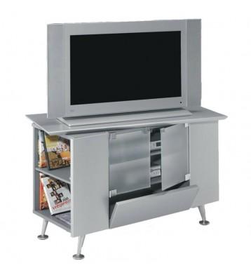 Mesa TV retro color plata...
