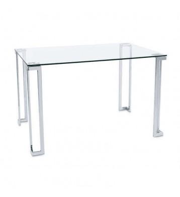 Mesa fija cristal y cromo...