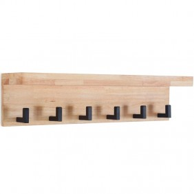 Perchero estilo industrial Plank roble 69x15x17