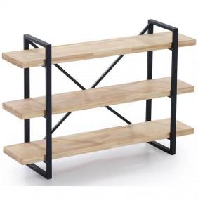 Estanteria Plank roble nordish salvaje y negro industrial 120x30x80