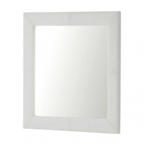 Espejo tapizado 70x70 cm color blanco