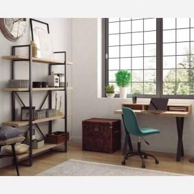 Pack oficina escritorio y estantería roble nordish salvaje y negro