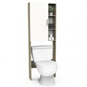 Mueble baño aseo auxiliar Nacre roble y blanco