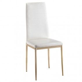 Silla polipiel color blanco Asper moderna 98x48x42