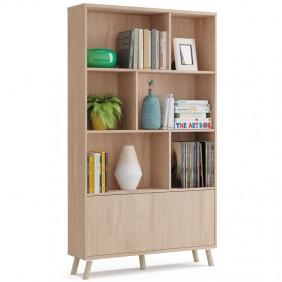 Librería salón Noruega color roble 100x30x180