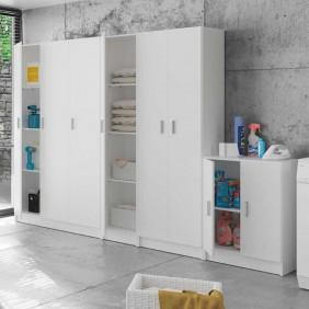 Pack 4 armarios multiusos cocina despensa blanco