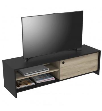 Mesa TV Tomy color negro y...