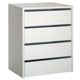 Cajonera interior armarios blanco brillo