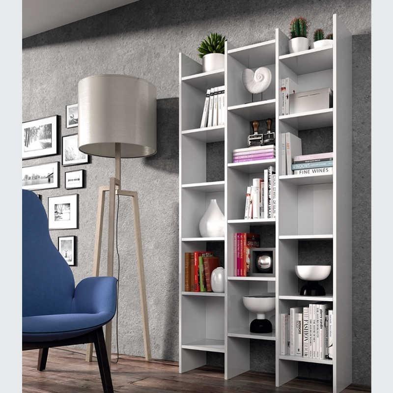 Estantería o librería color blanco artik 192x96x29 cm
