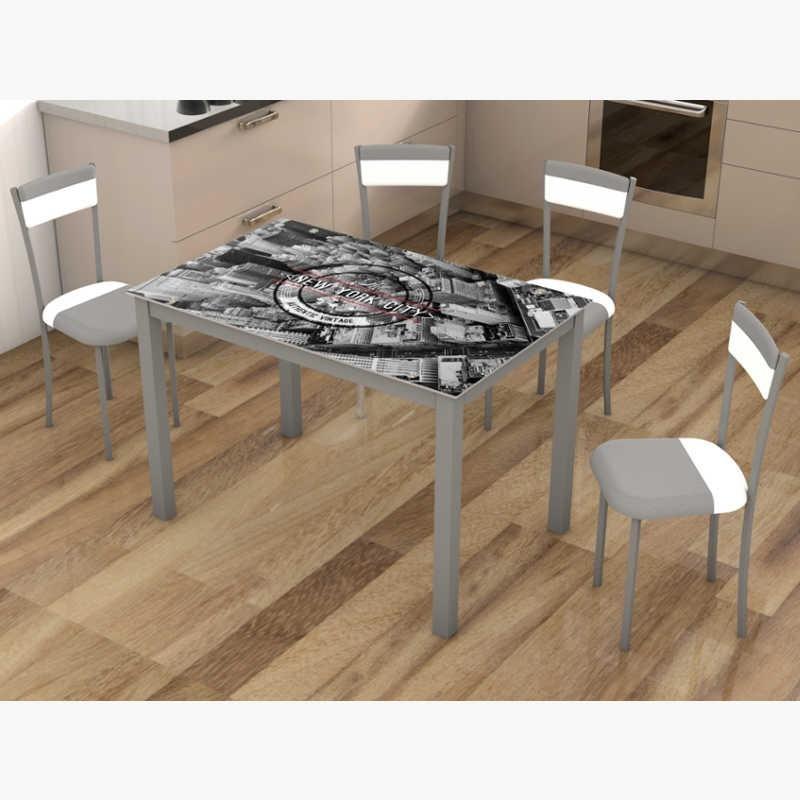 Pack mesa cocina y 4 sillas New York