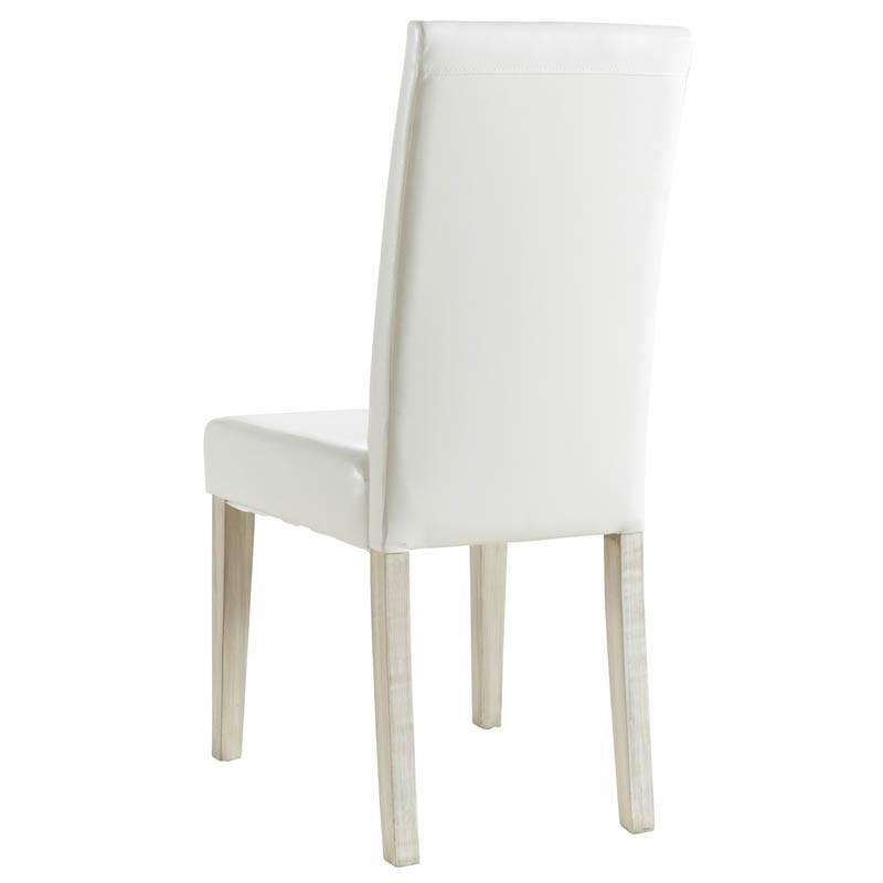 Pack 2 sillas blancas Guevara de madera y poliuretano