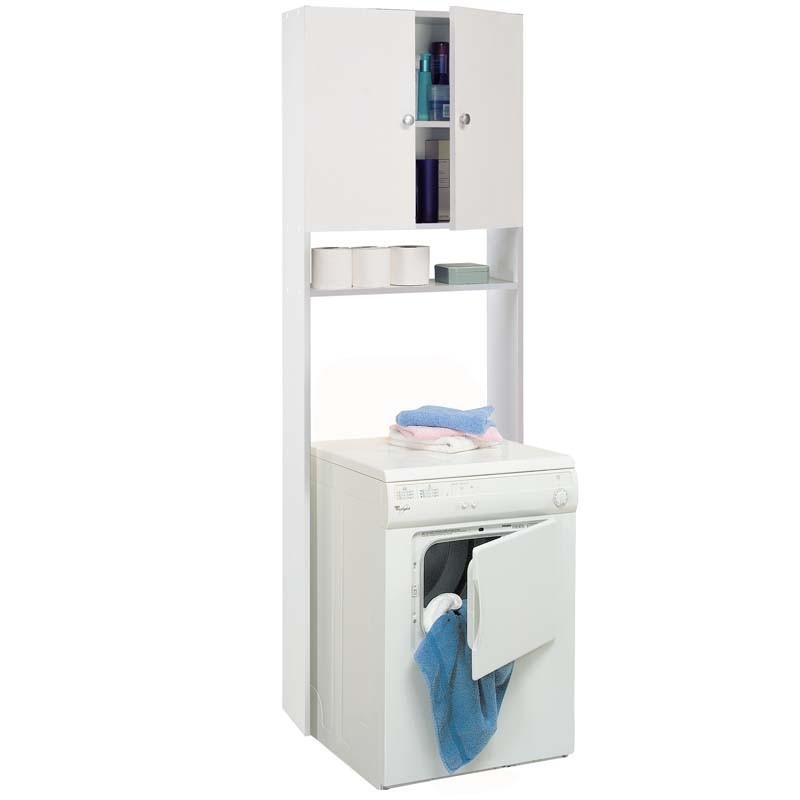 Mueble auxiliar WC 2 puertas blanco mate