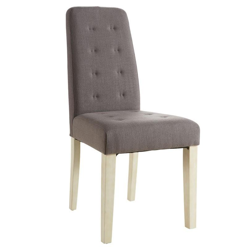 silla madera pino acolchada