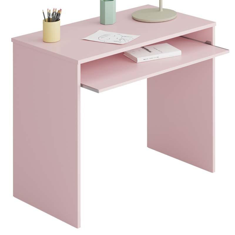 Mesa escritorio juvenil color rosa 90x54x70 cm