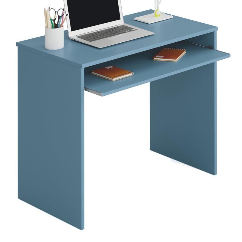 Pack mobiliario juvenil completo color azul y blanco CON SOMIERES