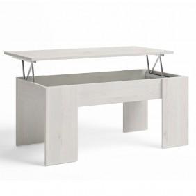 Mesa centro elevable color blanco nordic 100x45x50 cm