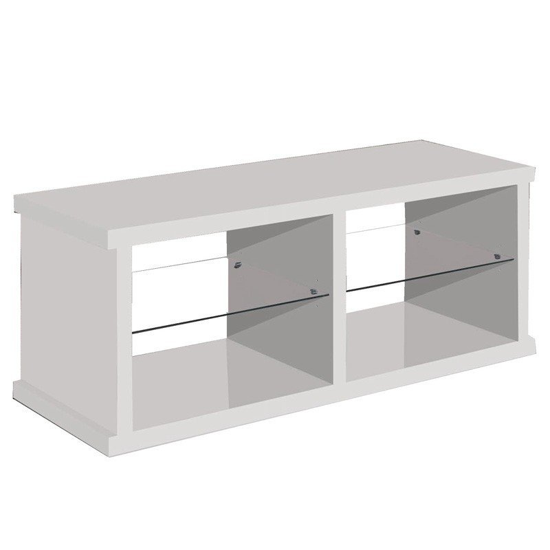 Mesa TV diseño contemporáneo blanca 130 cm