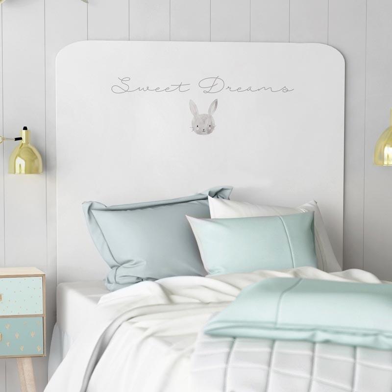 Cabezal infantil Sweet Dreams decorado conejito 110x90 cm