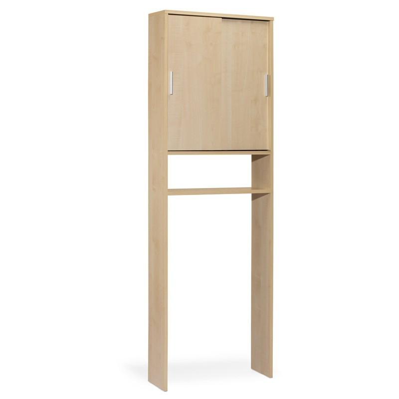 Estantería WC 2 puertas correderas color maple 60x19x185 cm