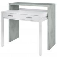 Consola escritorio desplazable Cemento 99x36x88 cm