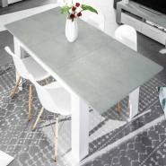 Mesa comedor extensible Cemento 140-190x90x78 cm