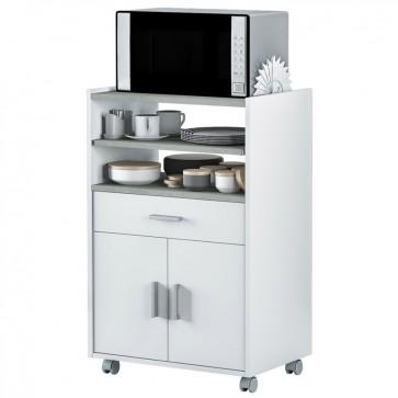 Mueble microondas 1 cajón 2 puertas 59x40x92 cm