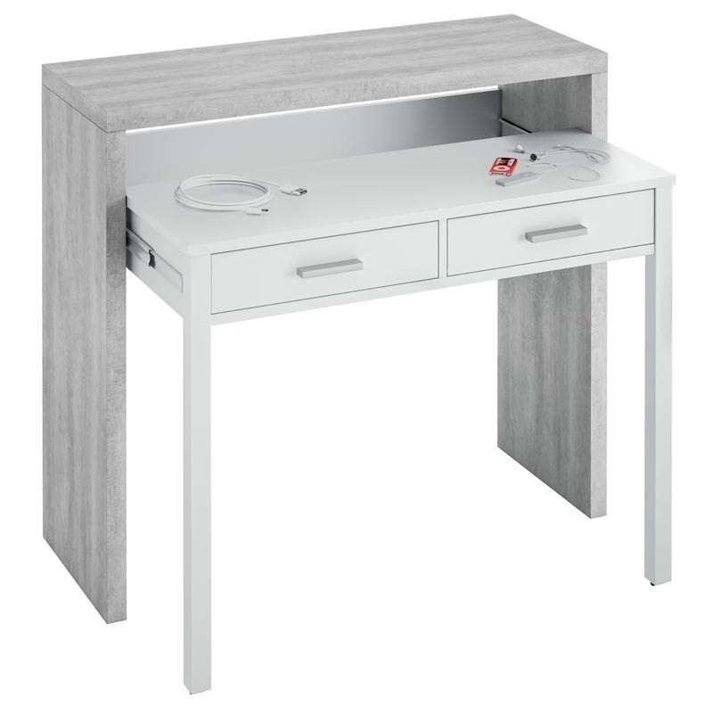 Pack muebles despacho diseño Cemento