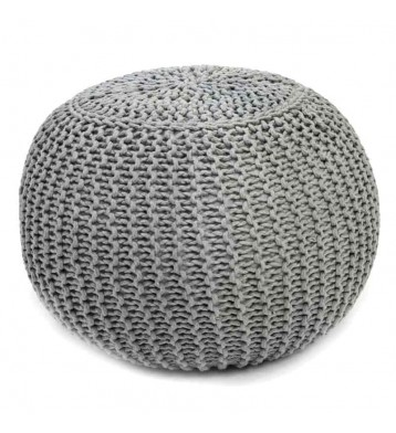Pack 2 puff color gris estilo moderno 40x29 cm