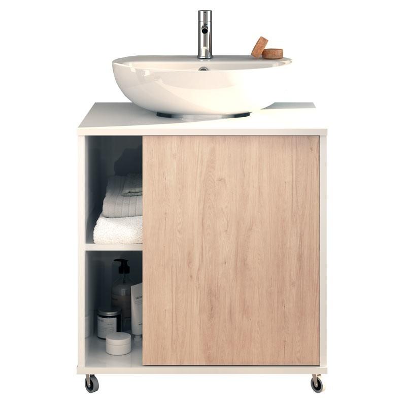 Mueble baño para lavabo pedestal 59x45x64 cm