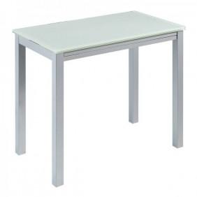 Mesa cristal blanco puro extensible 95x55-95