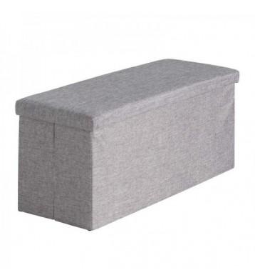 Puff con tapa rectangular gris 80x40x41